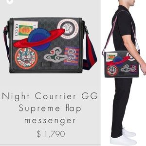 c41b0d0928af Gucci Bags | Gg Supreme Night Courrier Messenger Bag | Poshmark